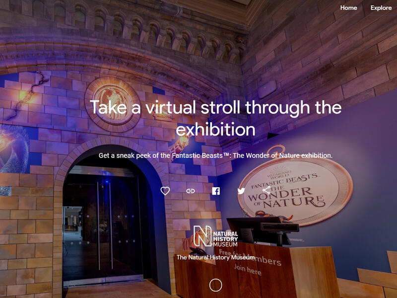 Make a virtual tour of the Fantastic beasts !