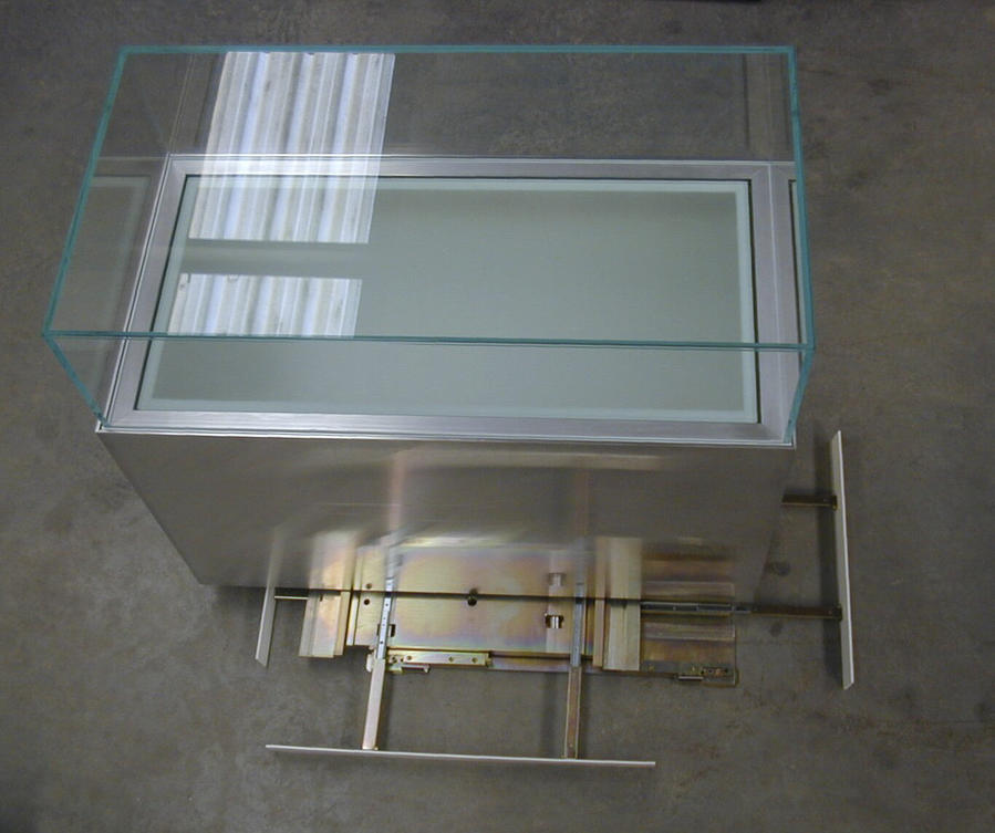 Earth quake proof museum display case