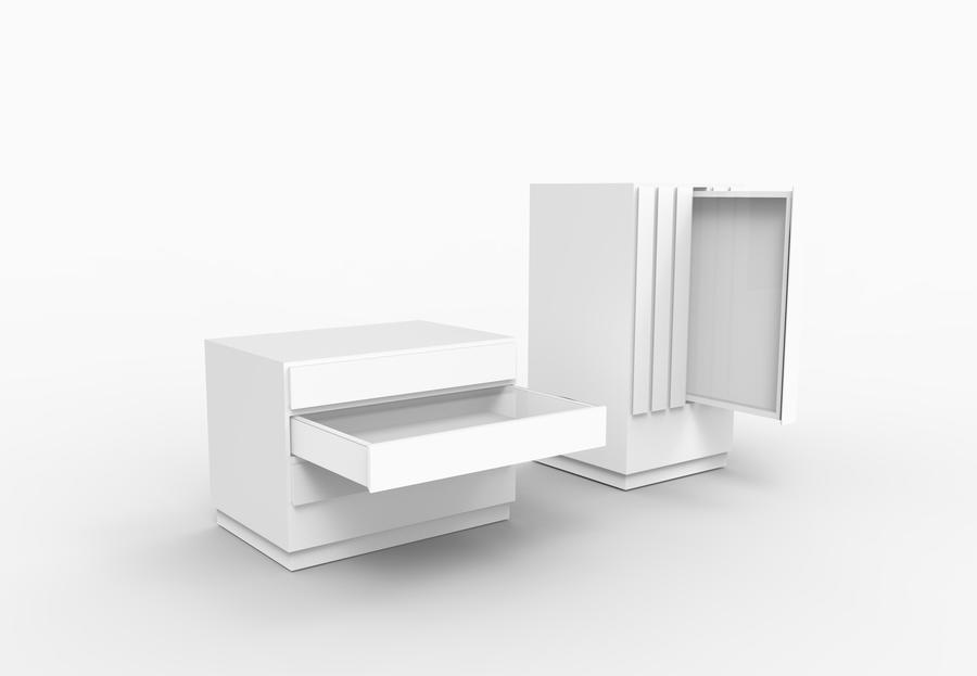 Horizontal and vertical display drawers