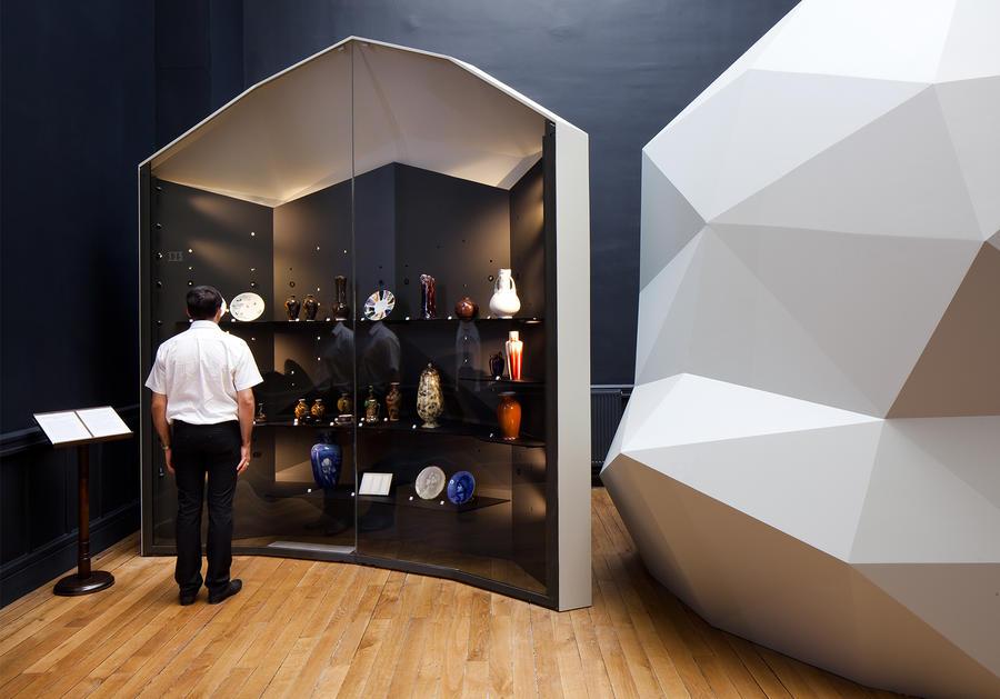 Custom free standing display cases