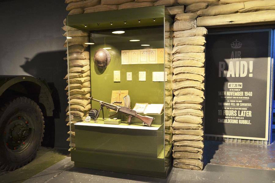 Museum showcase weapon