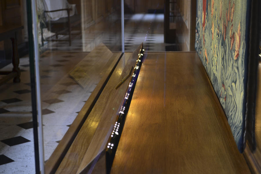 Custom showcase with fibre optic lighting