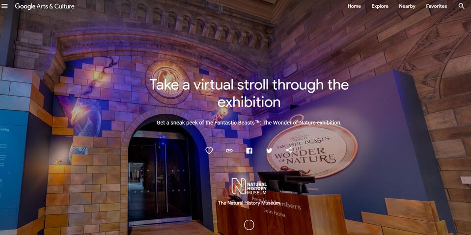 Maak een virtuele tour van de Fantastic beasts !